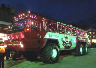 バンフ・クリスマスパレード1